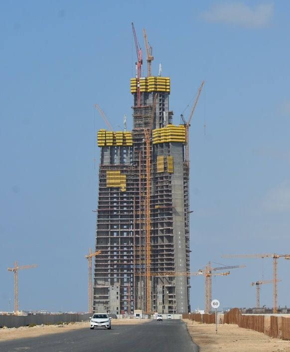 jeddah tower construction