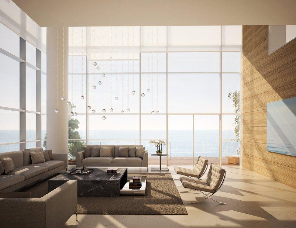 Living room jeddah tower residences